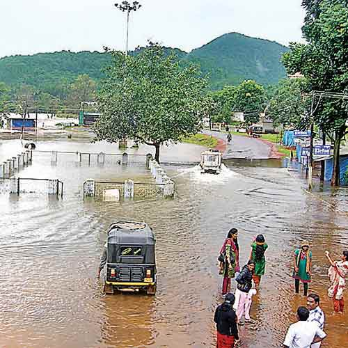 Kodagu is inundated after recent downpours. - DNA