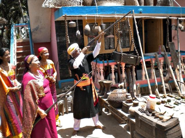 Guns are part of the Kodava culture and they are used during auspicious occasions.—Photo: Nanda Kumar / The Hindu
