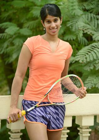 Indian squash player Joshna Chinnappa / Photo : R. Ravindran. / The Hindu