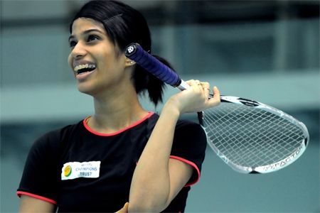 Chinappa dominated the second game before Grinham fought back in the third. (TOI Photo)
