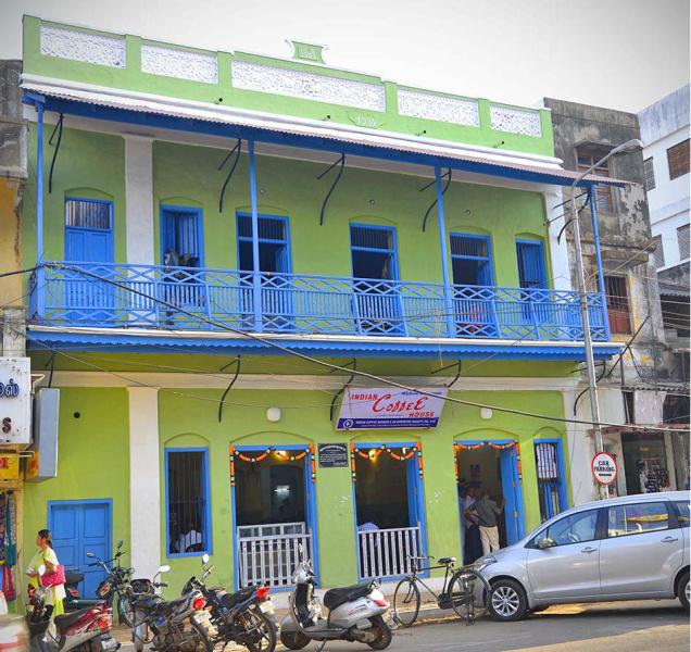 A view of the Indian Coffee House on Jawaharlal Nehru Street in Puducherry.— Photo: S.S. Kumar