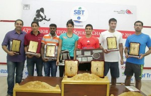 All the winners from the 63rd National Squash Championship in Kerala