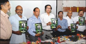 'Hindi-English-Kodava,' trilingual dictionary compiled by Dr. C.V. Sivaramakrishna, was released during a symposium on 'Kannada Classical Language and other Classical Languages of India' held at Central Institute of Indian Languages (CIIL) in city this morning. Seen in the picture are (from left) CIIL Academic Secretary (retd) Prof. Kikkeri Narayana; Head of Linguistics, Malayalam University, Thiroor, Kerala, Prof. M. Sreenatham; Former Kuvempu Institute of Kannada Studies Director Prof. R. V. S. Sundaram; CIIL Director Prof. Awadesh Kumar Mishra; former CIIL Mysuru Deputy Director Prof. V. Gnanasundaram; Deccan College, Pune, retired Prof. K.S. Nagaraja and KSOU retired Prof. Radha Krishna Bhat.