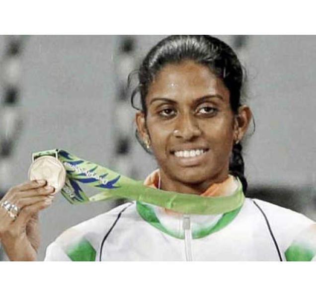 Athlete M.R. Poovamma.— PHOTO: By Special Arrangement
