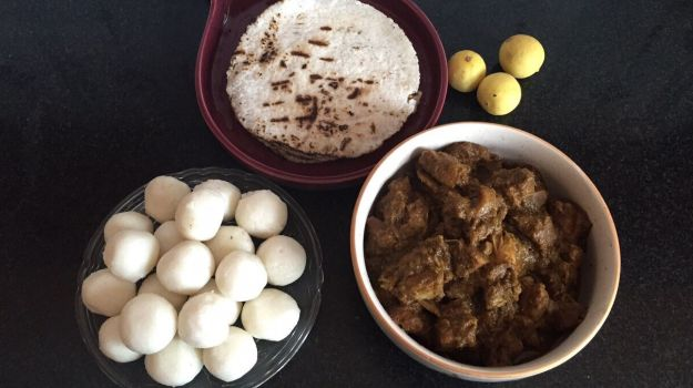 Pandi Curry, kadambuttu and Akki Roti: Image via Prarthana Bidapa