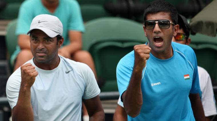 Leander Paes (L) and Rohan Bopanna do not enjoy a coordial relationship. (Source: File)