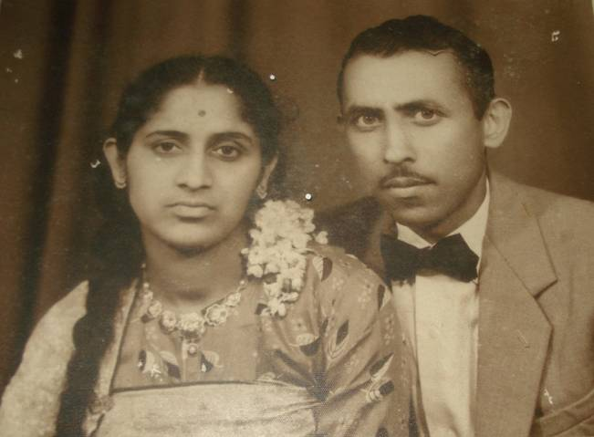 Mrs. Kaveriamma & late Nb Sub B.N. Ayyappa.