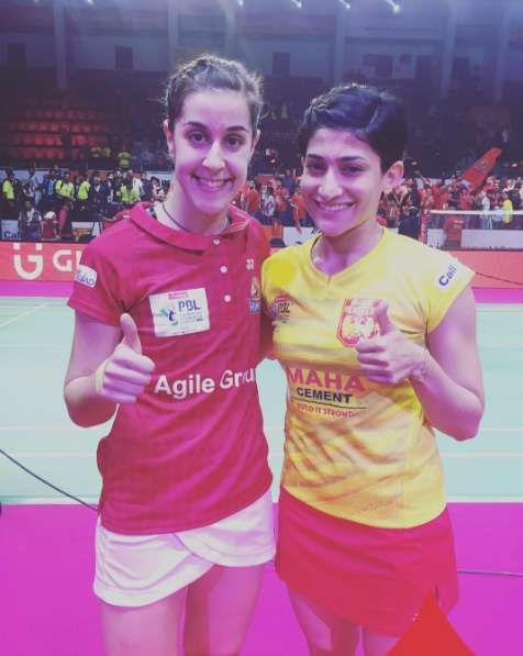 Ashwini Ponnappa gave the Olympic champion a scare at the PBL