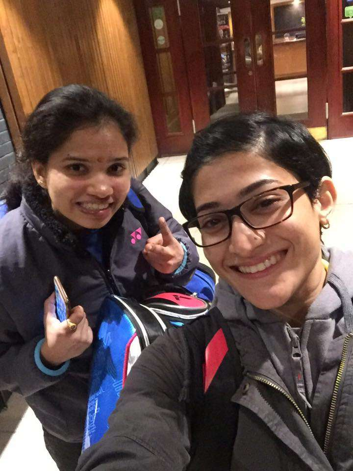 Ashwini Ponnappa with Sikki Reddy (L) [Image courtesy: Ashwini Ponnappa's Facebook]
