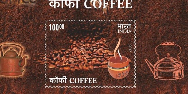 Philatelic delight: India Post launches coffee flavored stamps to push the branding of Indian coffee