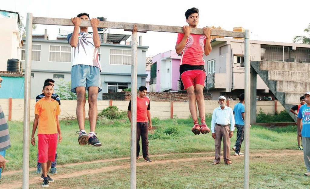 Youths being trained for defence forces in Kushalnagar | Express