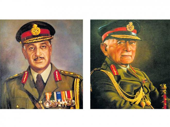 Role Models: Paintings of General K S Thimayya, Field Marshal K M Cariappa.