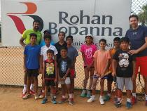 Rohan Bopanna along with Serbian coach Dragan Bukumirovic at his tennis academy in Bengaluru. (Image: Instagram/rohanbopanna0403)
