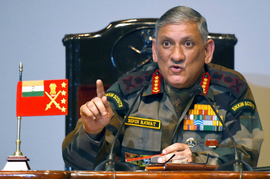 File photo of Army chief General Bipin Rawat. (PTI)