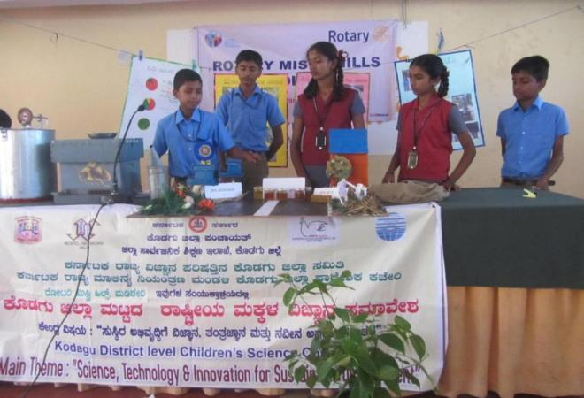 Students showcase their talents at the Childrens science Congress.