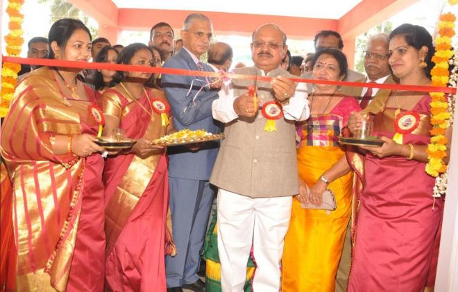 Law and Parliamentary Affairs Minister T B Jayachandra inaugurates the Court Complex and quartters of Judicairy officials at Ponnampet in Virajpet on Saturday.