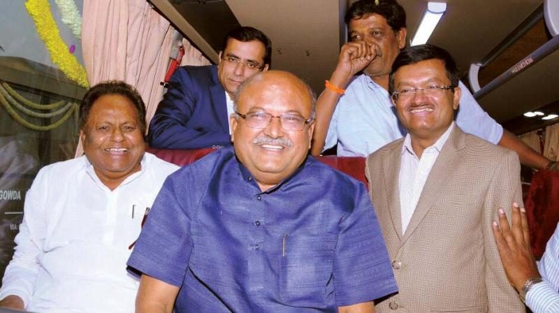 Transport Minister Revanna launches the new KSRTC Fly bus services